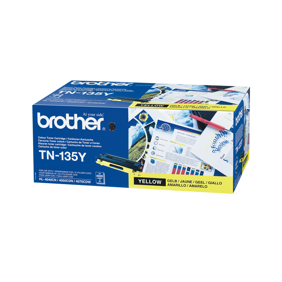 Brother TN-135Y Tonerkartusche – Gelb 2