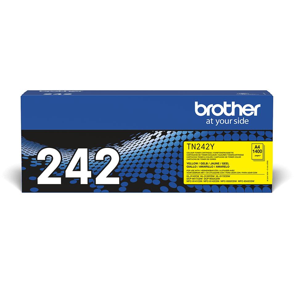 Brother TN-242Y Tonerkartusche – Gelb 0