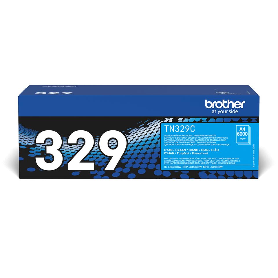 Brother TN-329C Tonerkartusche – Cyan 2