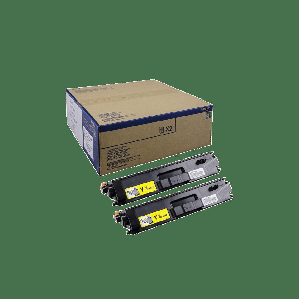 Brother TN-900Y Tonerkartusche Twin Pack