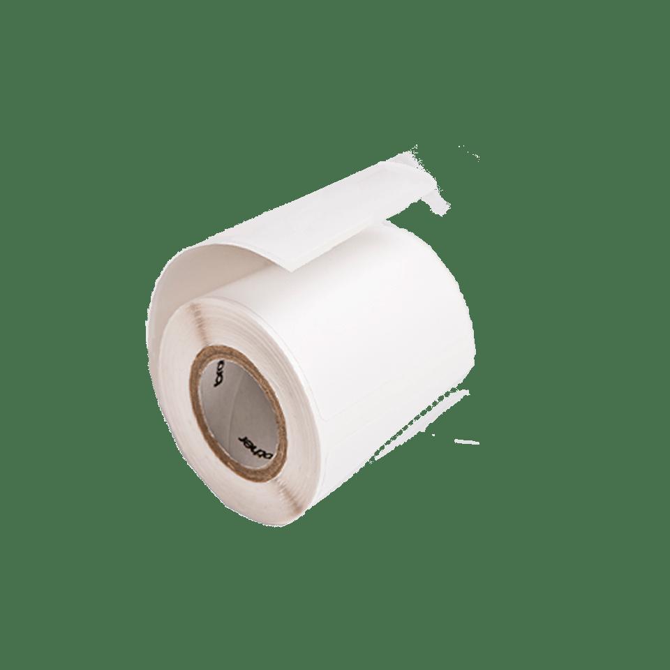 Brother RD-Q04E1 Einzeletiketten – schwarz auf weiß 0