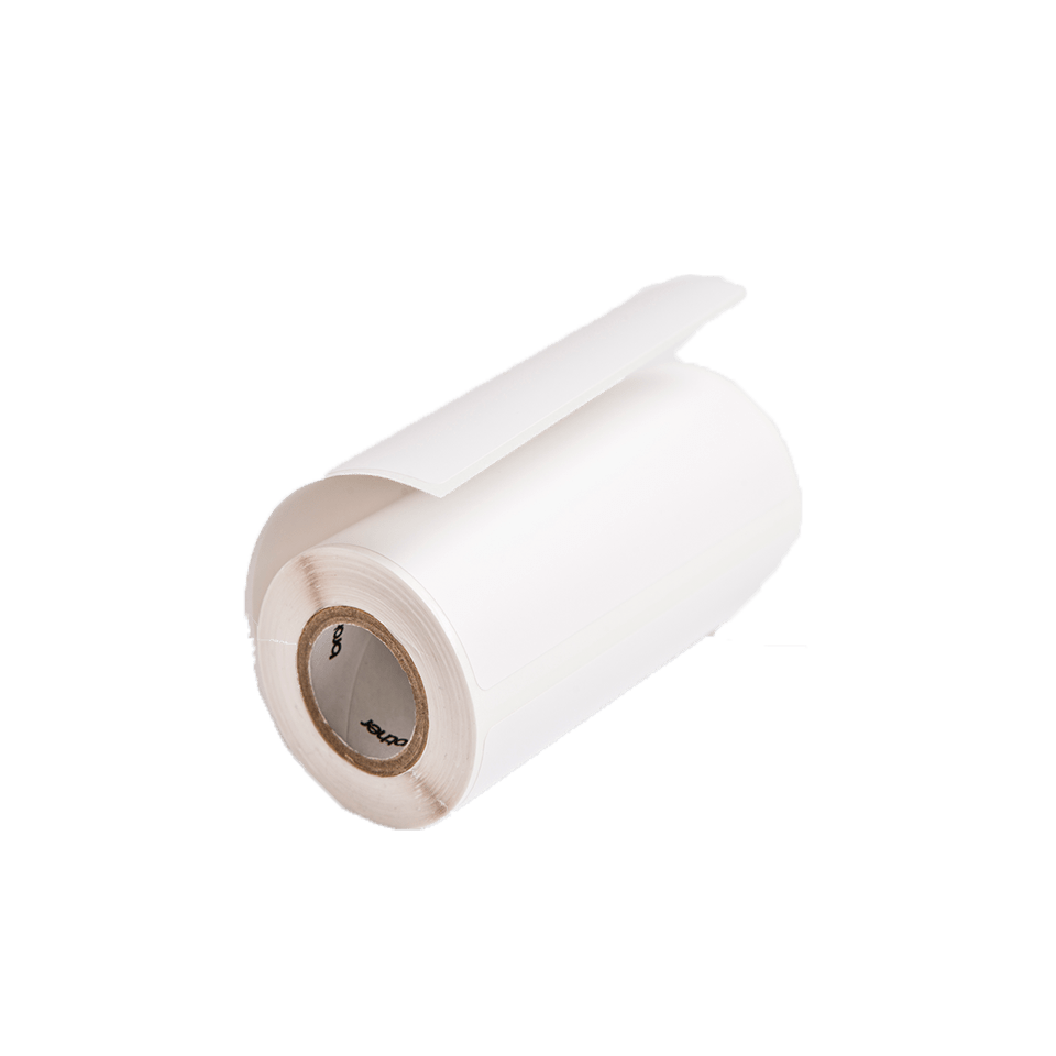 Brother RD-M03E1 Einzeletiketten – schwarz auf weiß 0