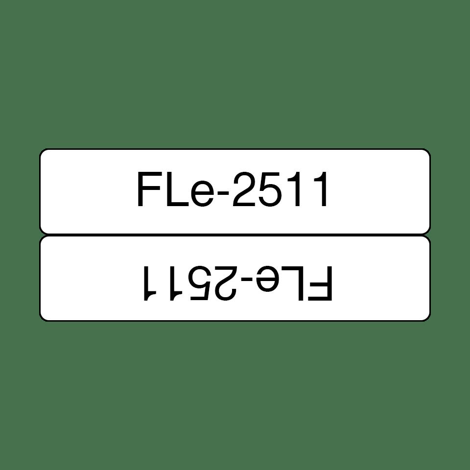 Brother FLe-2511 Einzelfähnchen-Etiketten – schwarz auf weiß