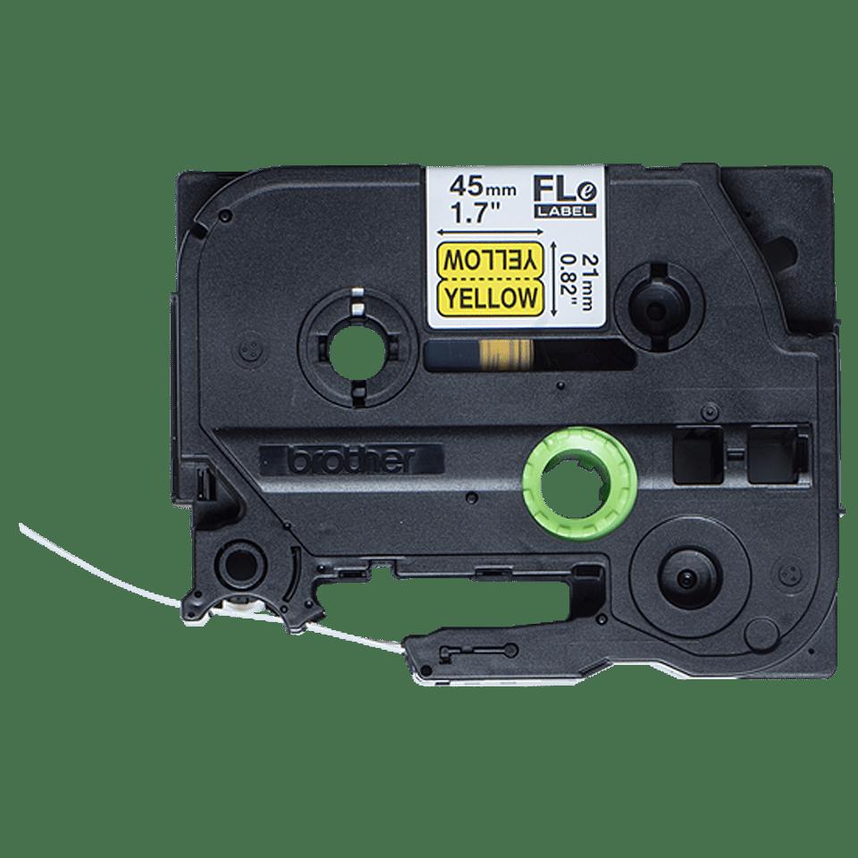 Brother FLe-6511 Schriftband – schwarz auf gelb 2