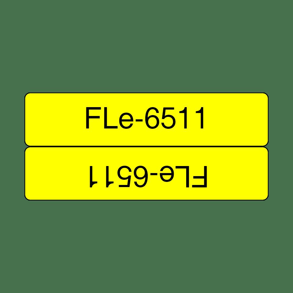 Brother FLe-6511 Schriftband – schwarz auf gelb