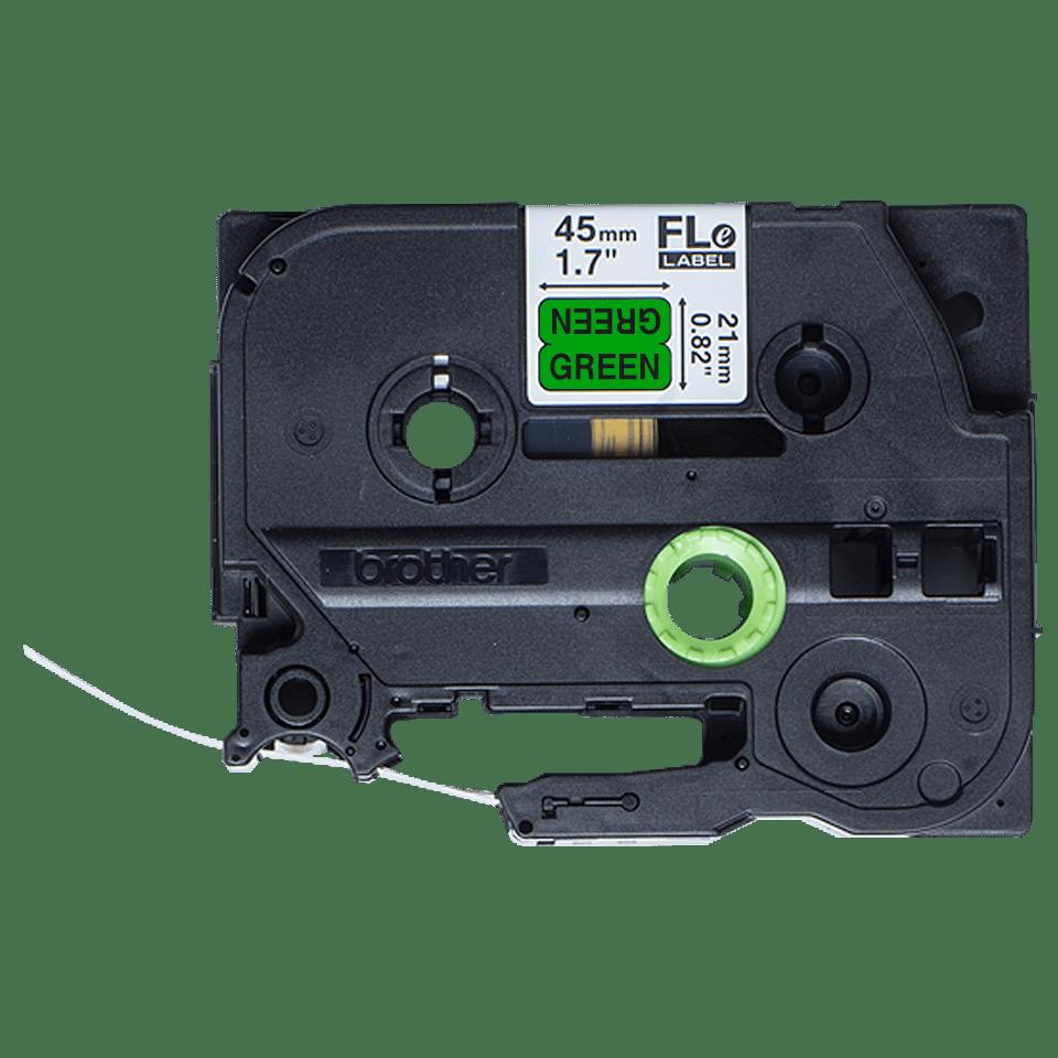 Brother FLe-7511 Schriftband – schwarz auf grün 2