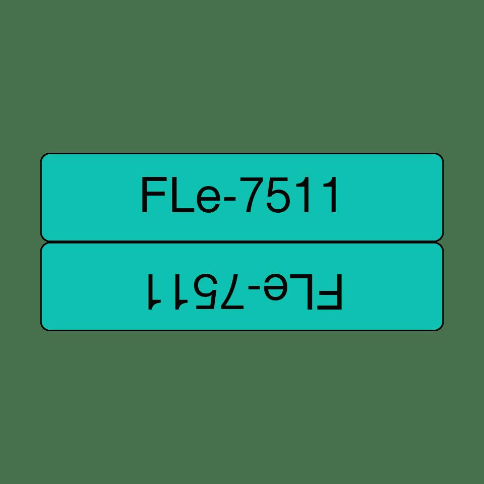 Brother FLe-7511 Schriftband – schwarz auf grün