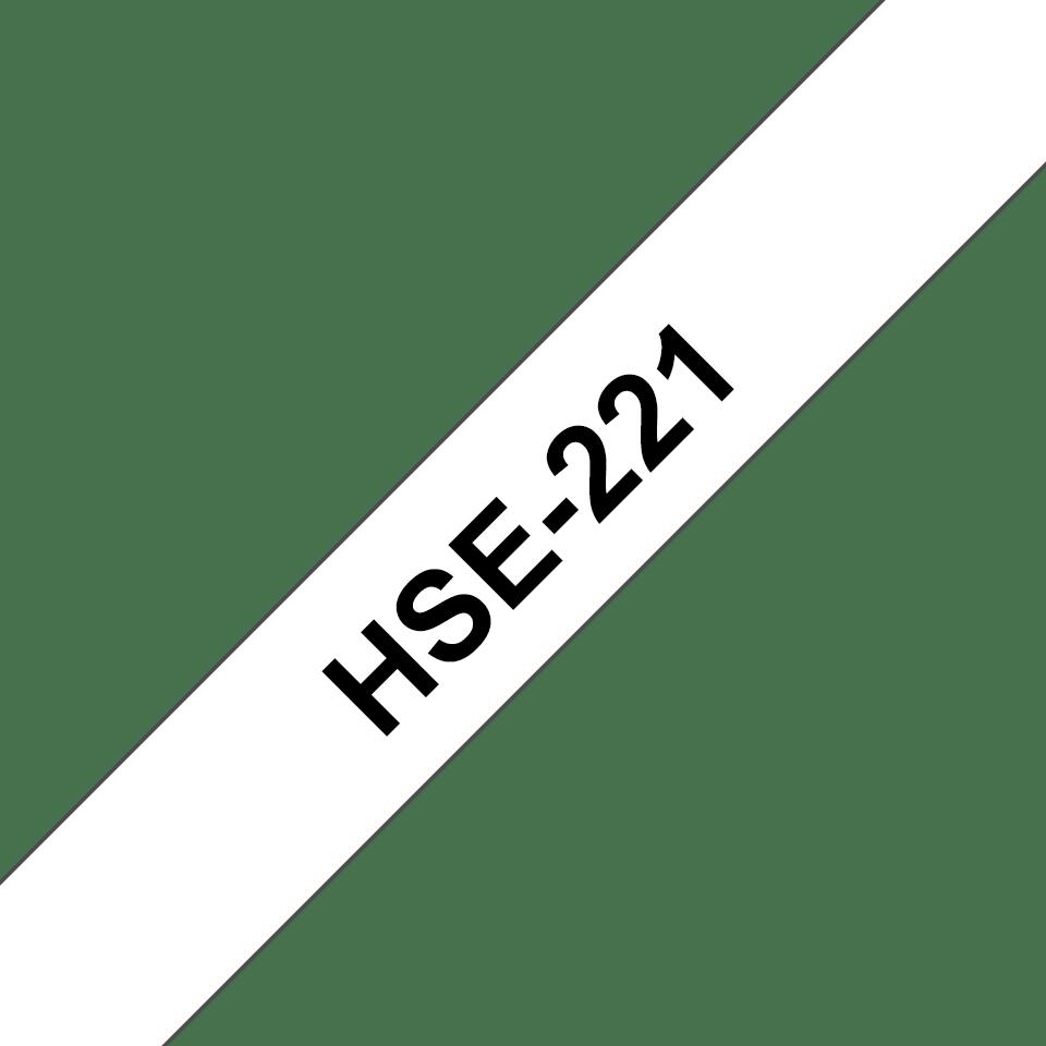 Brother HSe-221 Schrumpfschlauch – schwarz auf weiß 2