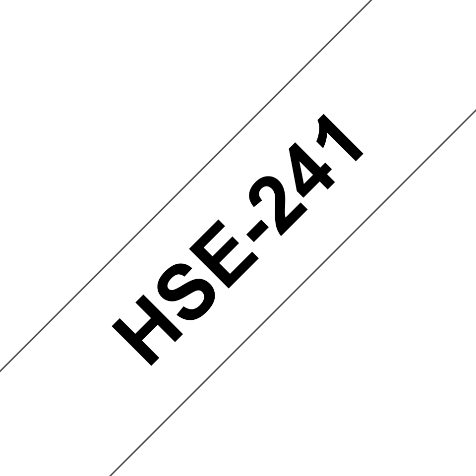 Brother HSe-241 Schrumpfschlauch – schwarz auf weiß 2