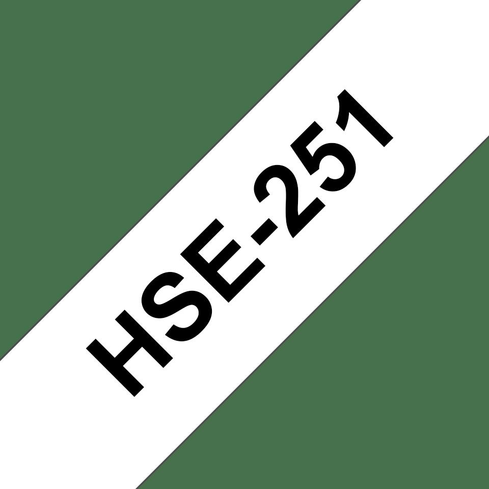 Brother HSe-251 Schrumpfschlauch – schwarz auf weiß 2