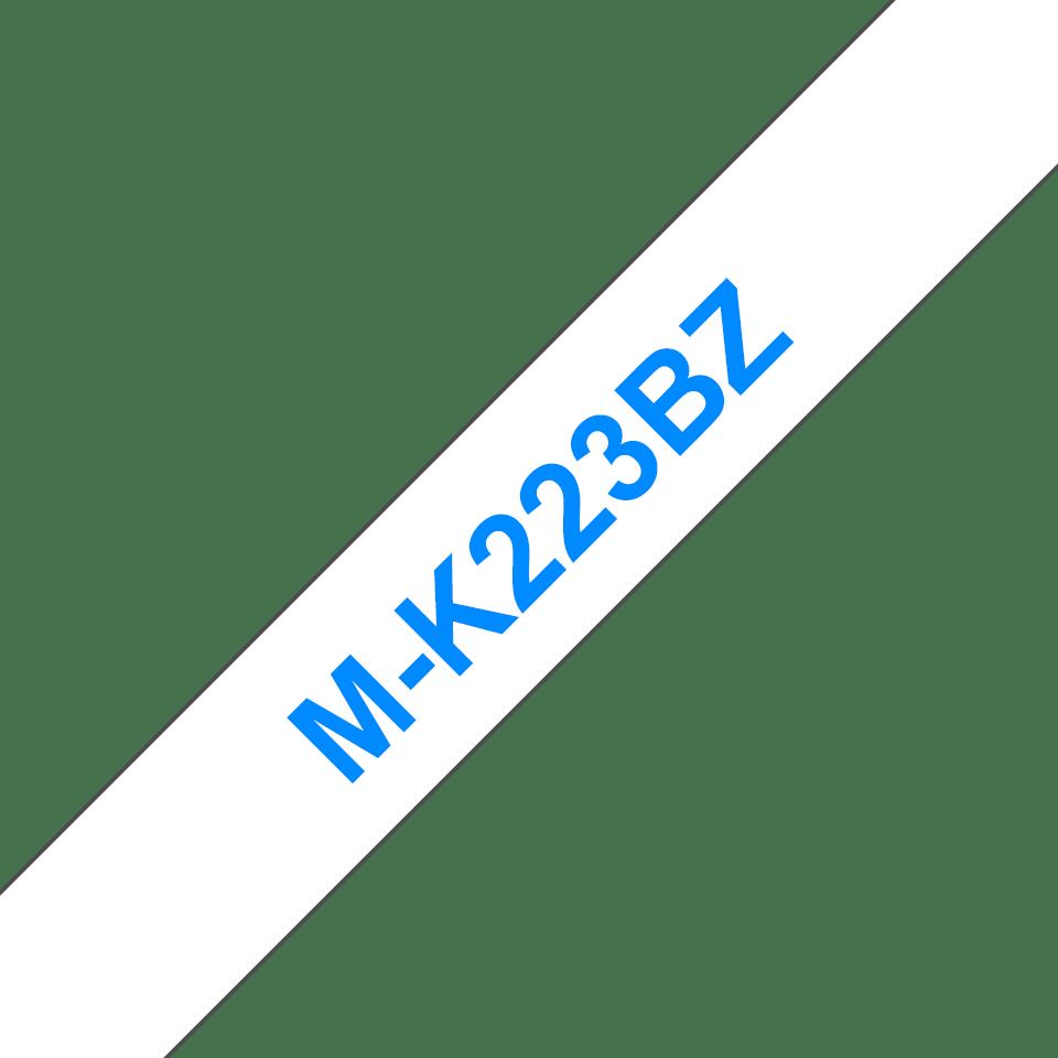 Brother M-K223 Schriftband – blau auf weiß