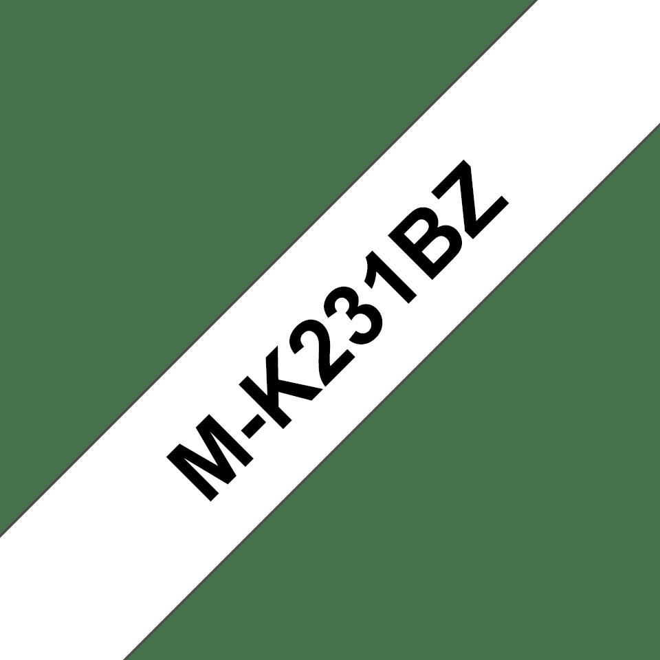 Brother M-K231 Schriftband – schwarz auf weiß