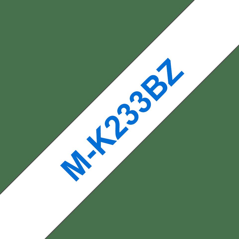Brother M-K233 Schriftband – blau auf weiß 0