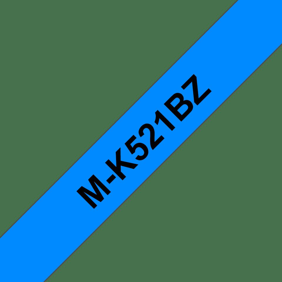 Brother M-K521 Schriftband – schwarz auf blau