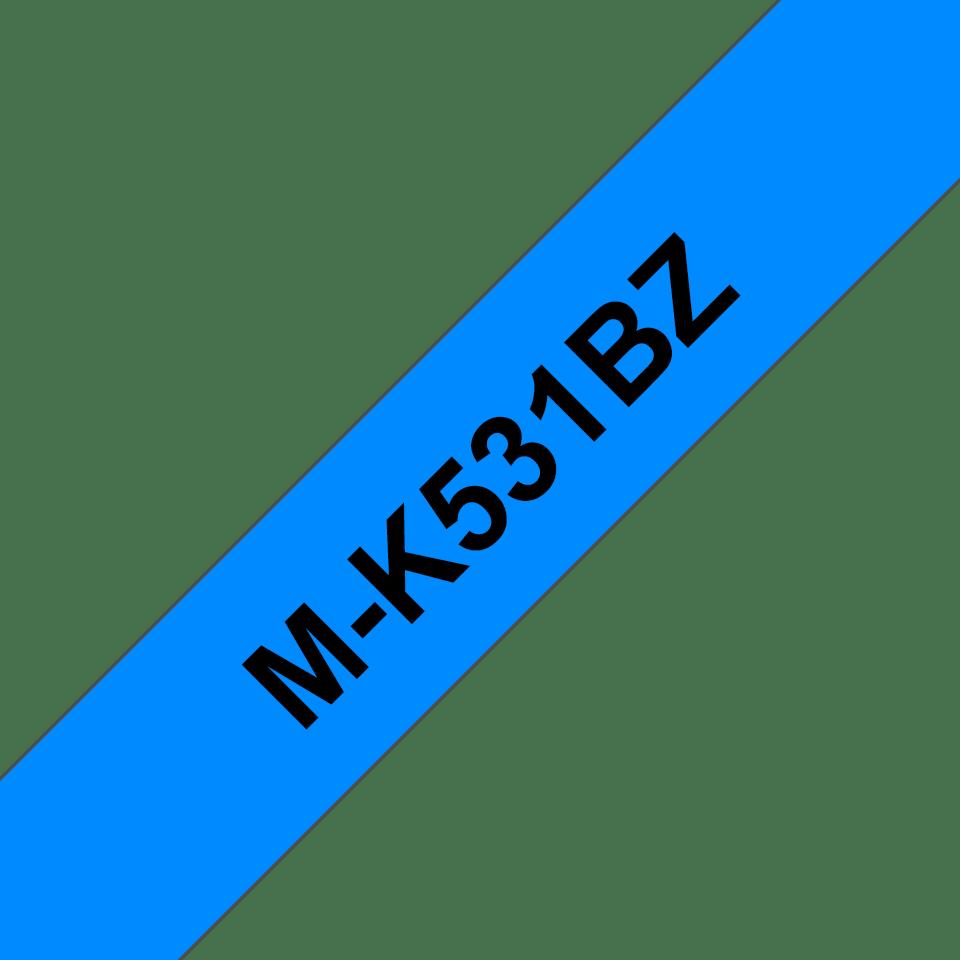 Brother M-K531 Schriftband – schwarz auf blau
