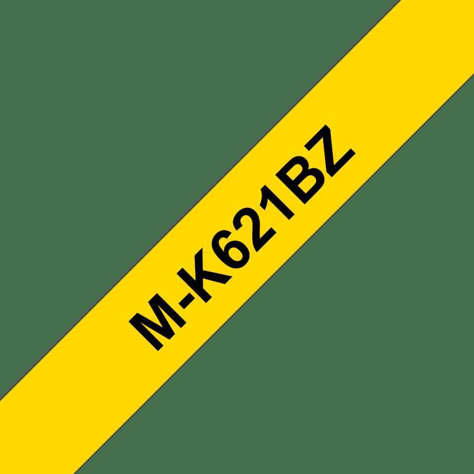 Brother M-K621 Schriftband – schwarz auf gelb