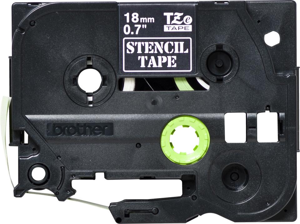 Brother STe-141 Schablonenband – weiß auf transparent 3