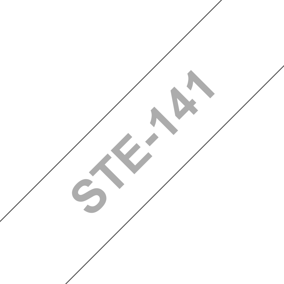Brother STe-141 Schablonenband – weiß auf transparent 2