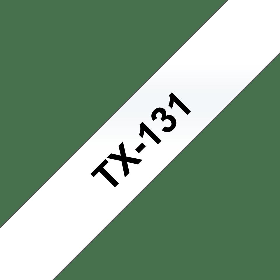 Brother TX-131 Schriftband – schwarz auf transparent