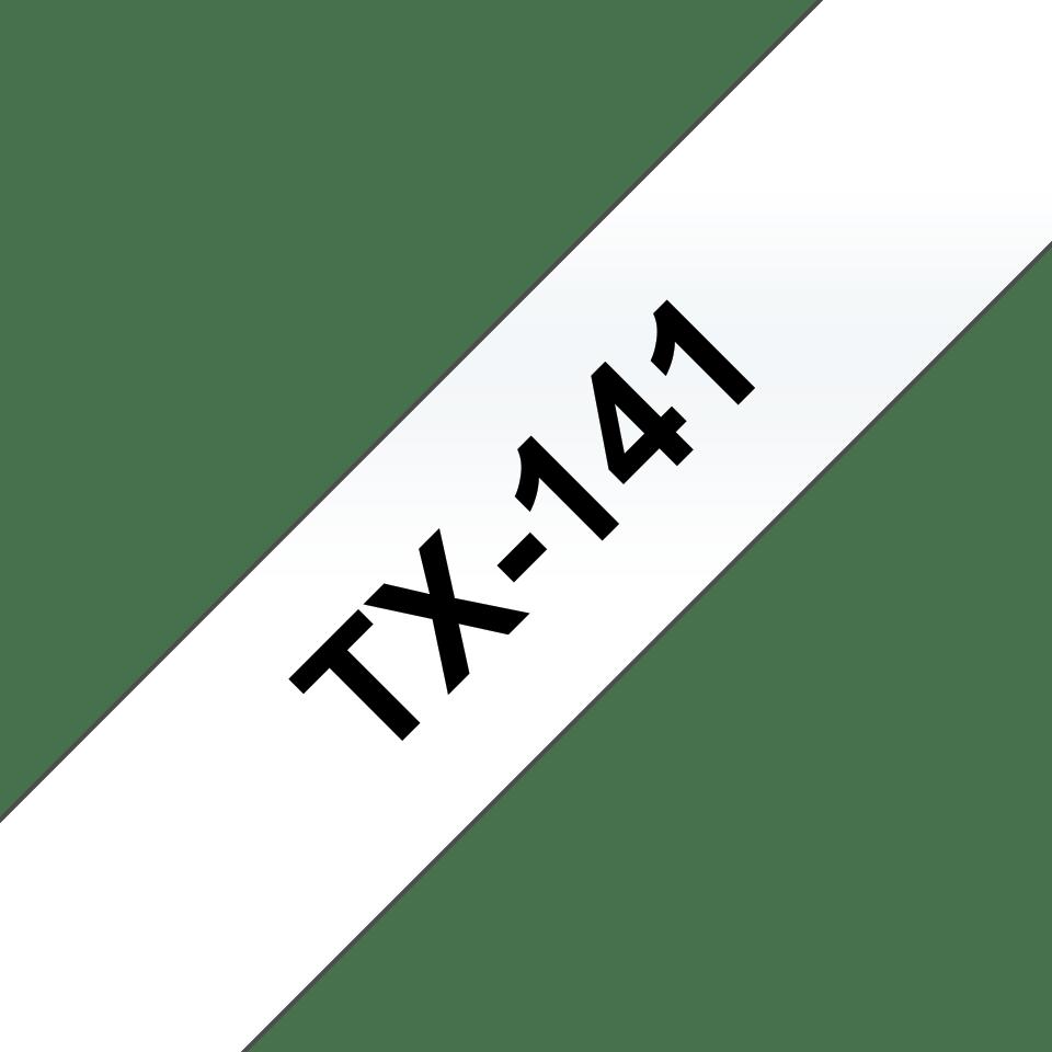 Brother TX-141 Schriftband – schwarz auf transparent 0