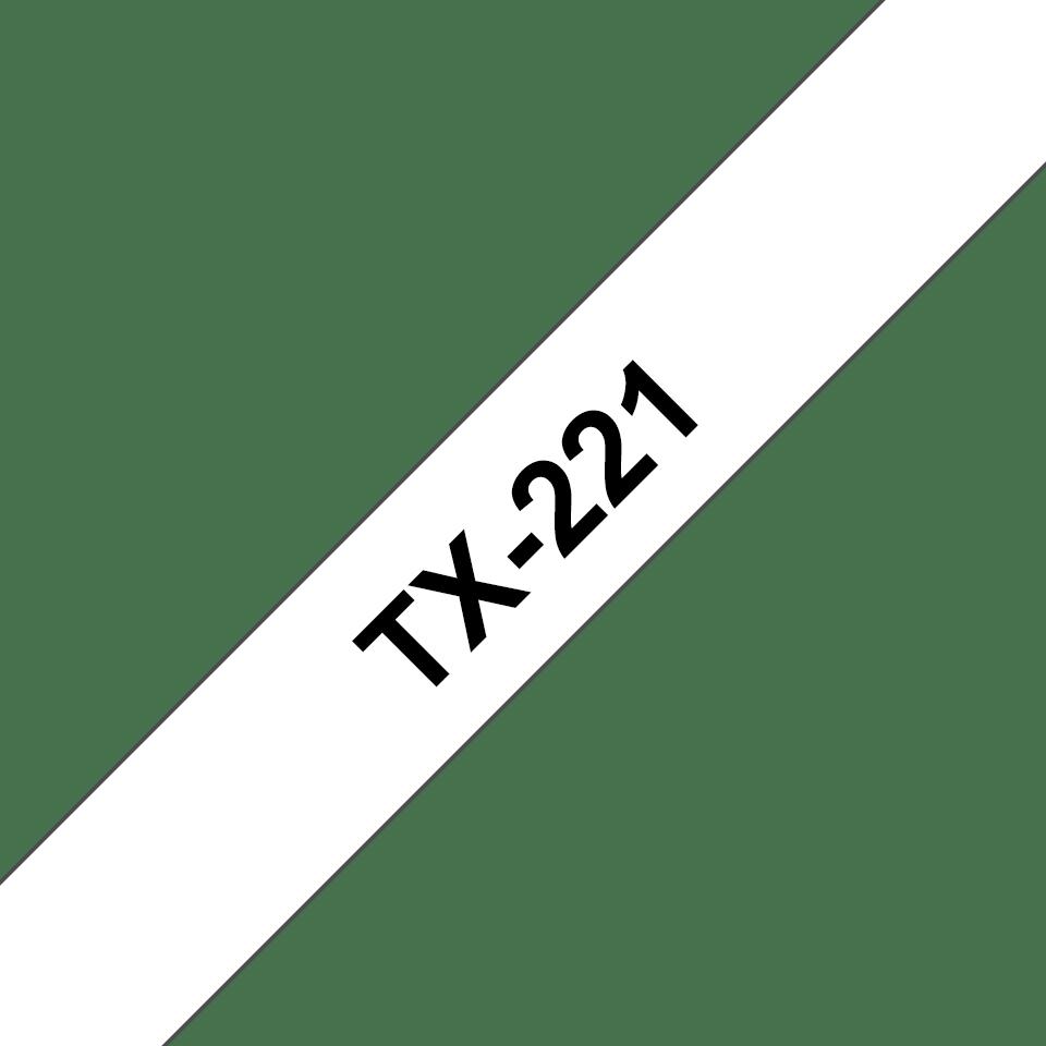 Brother TX-221 Schriftband – schwarz auf weiß 0