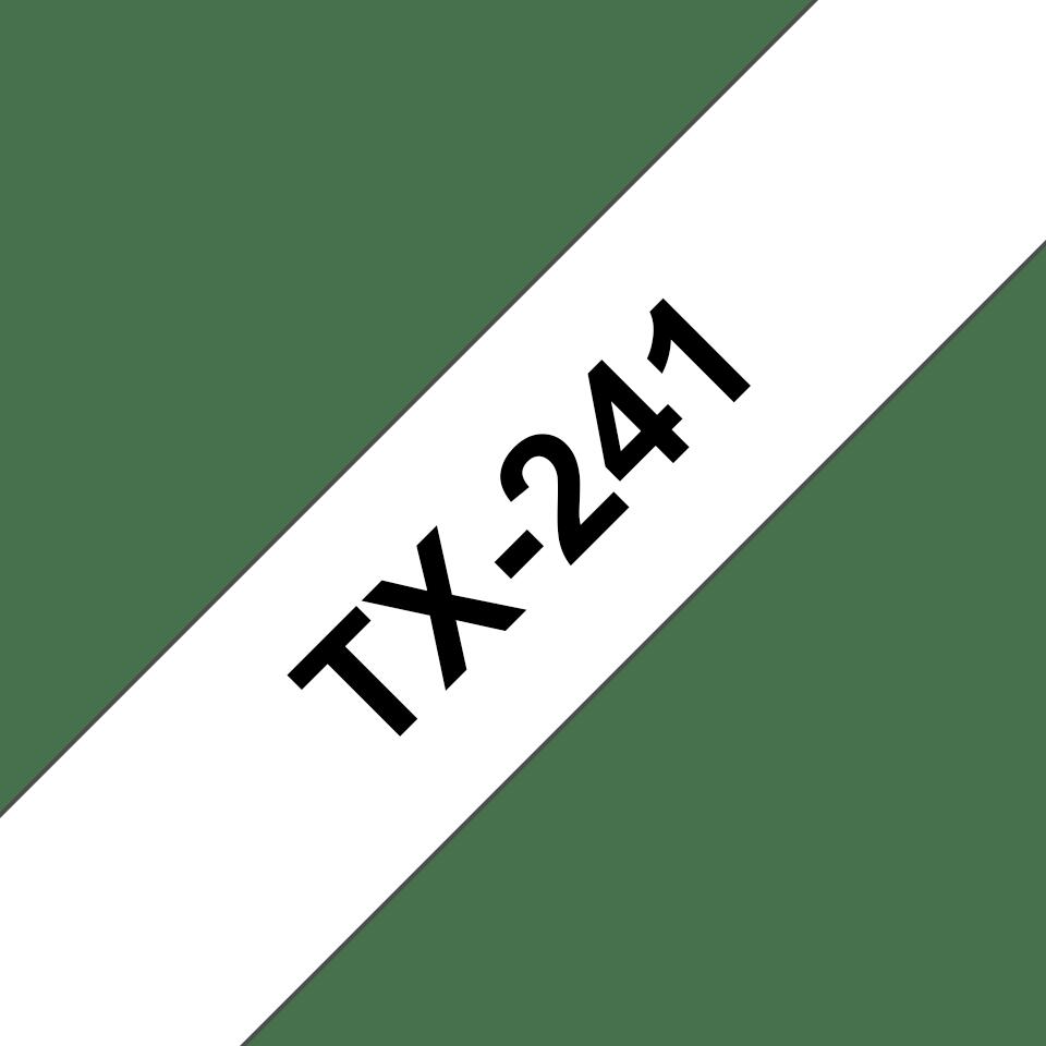 Brother TX-241 Schriftband – schwarz auf weiß