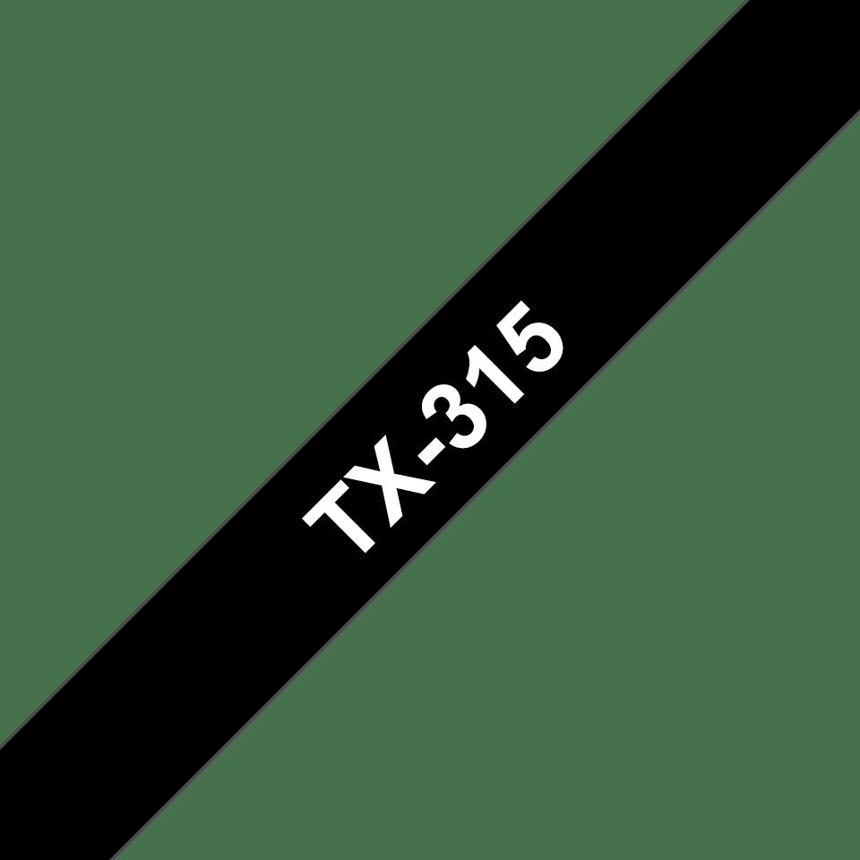 Brother TX-315 Schriftband – weiß auf schwarz
