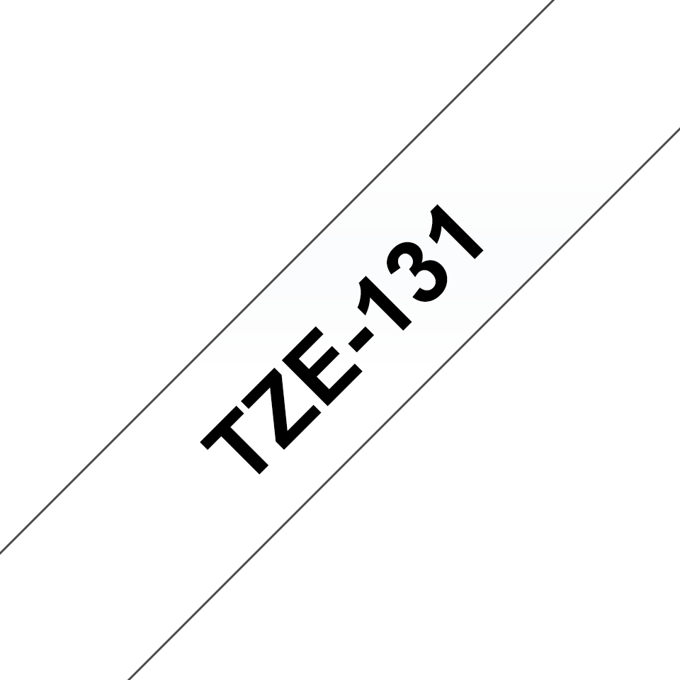 Brother TZe-131 Schriftband – schwarz auf transparent 3