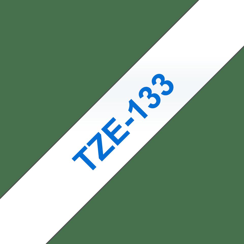 Brother TZe-133 Schriftband – blau auf transparent