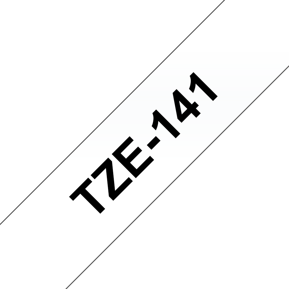 Brother TZe-141 Schriftband – schwarz auf transparent 2