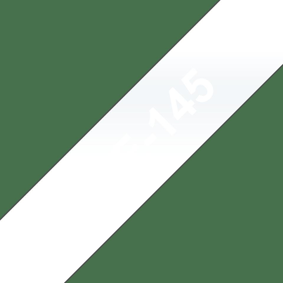 Brother TZe-145 Schriftband – weiß auf transparent 2