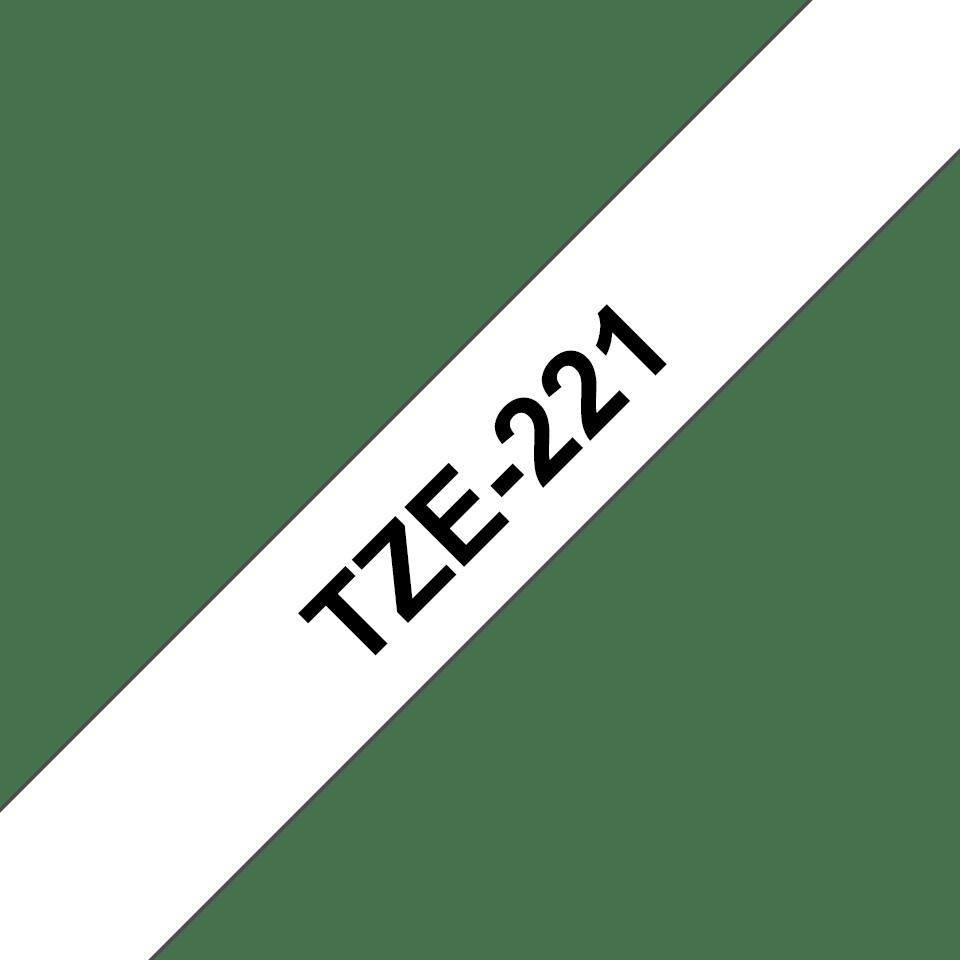 Brother TZe-221 Schriftband – schwarz auf weiß 2