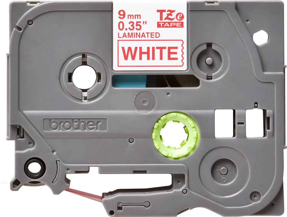 Brother TZe-222 Schriftband – rot auf weiß 3