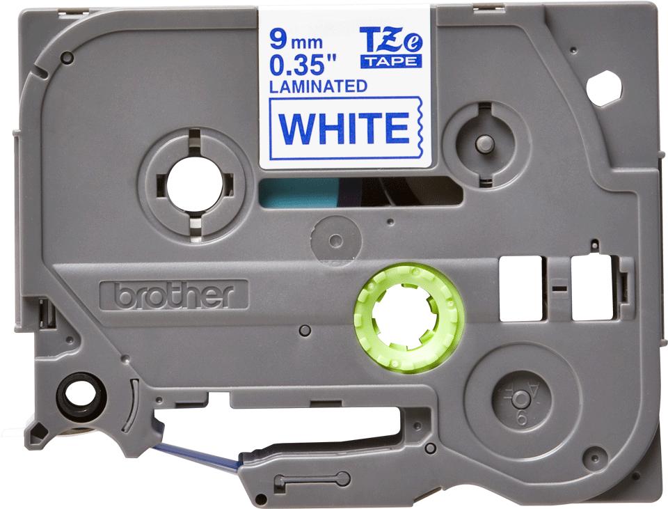 Brother TZe-223 Schriftband – blau auf weiß 3