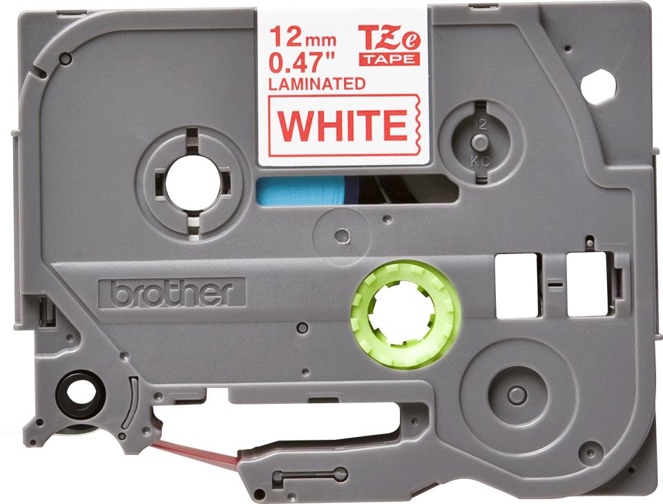 Brother TZe-232 Schriftband – rot auf weiß