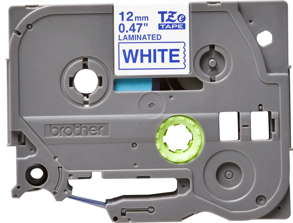 Brother TZe-233 Schriftband – blau auf weiß 0