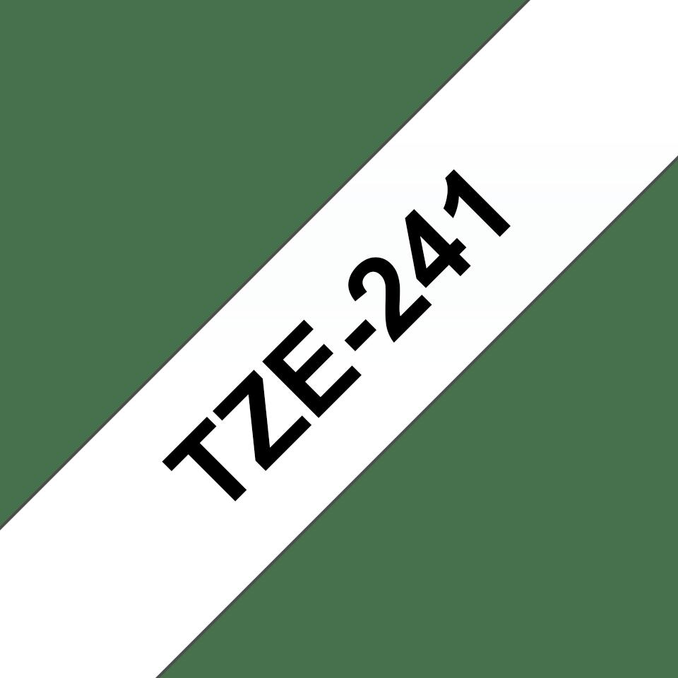 Brother TZe-241 Schriftband – schwarz auf weiß 2
