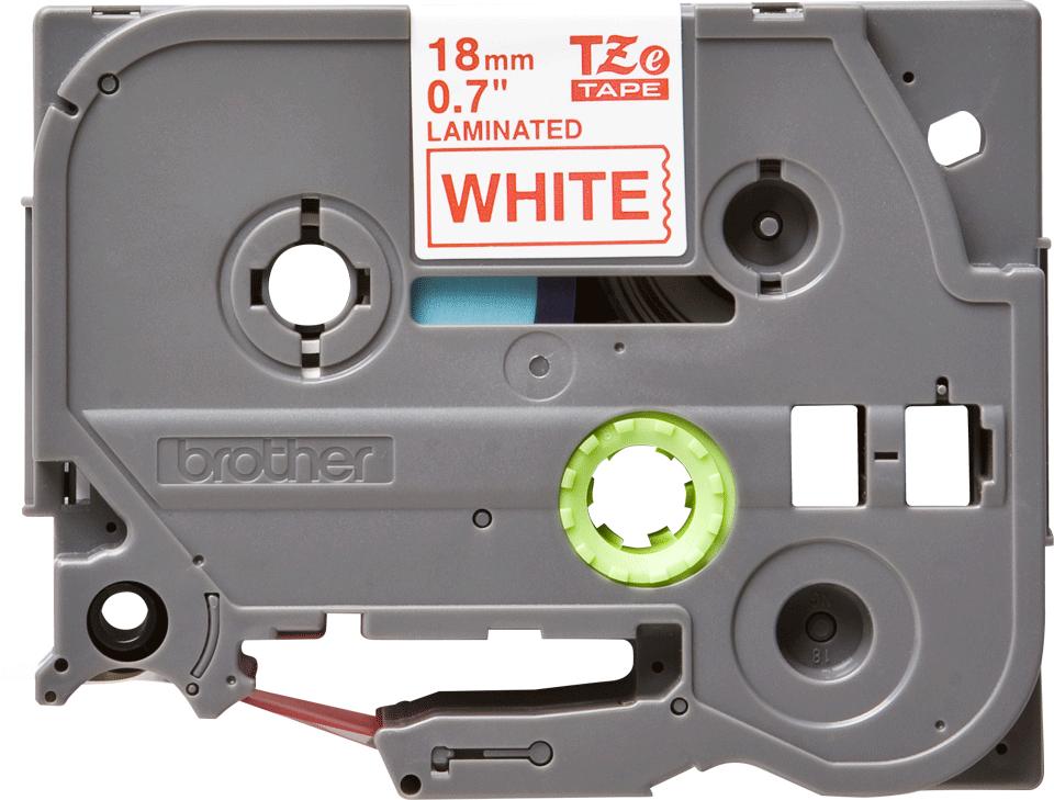 Brother TZe-242 Schriftband – rot auf weiß 3