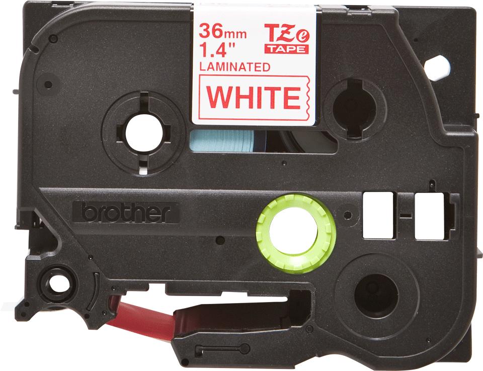Brother TZe-262 Schriftband – rot auf weiß