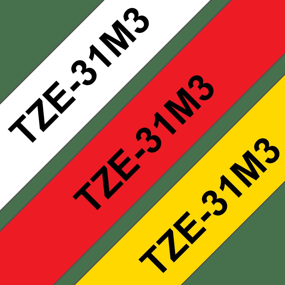 Brother TZe-31M3 Schriftband-Multipack 3