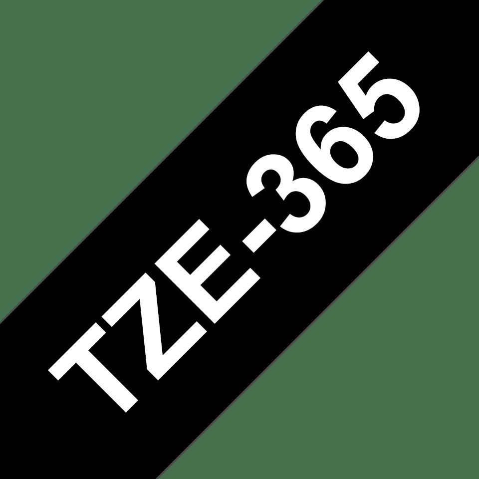 Brother TZe-365 Schriftband – weiß auf schwarz 3