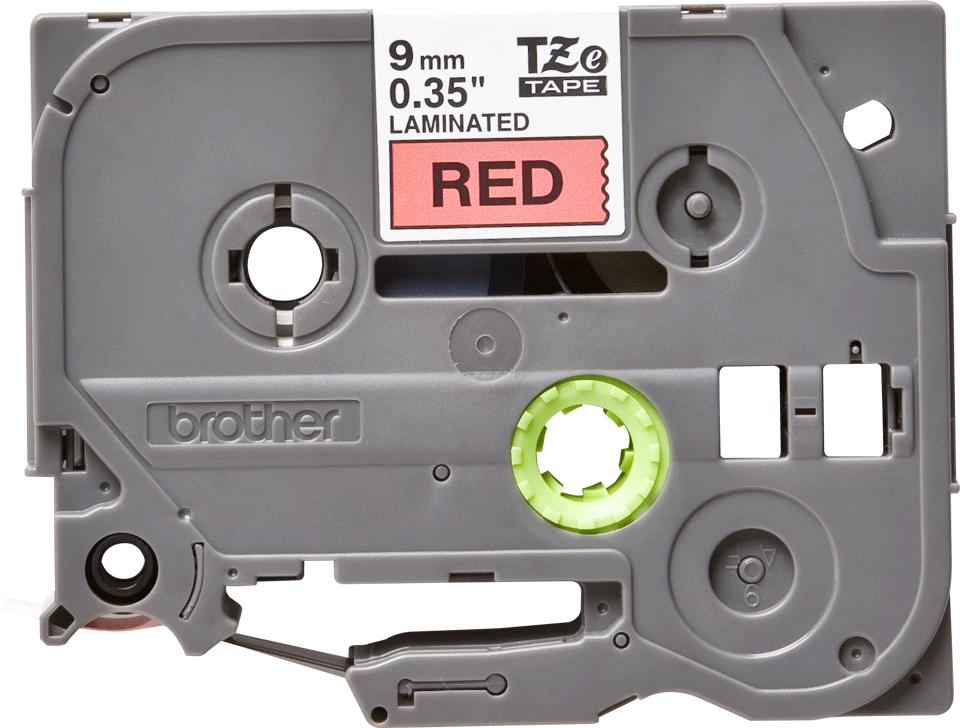 Brother TZe-421 Schriftband – schwarz auf rot 3
