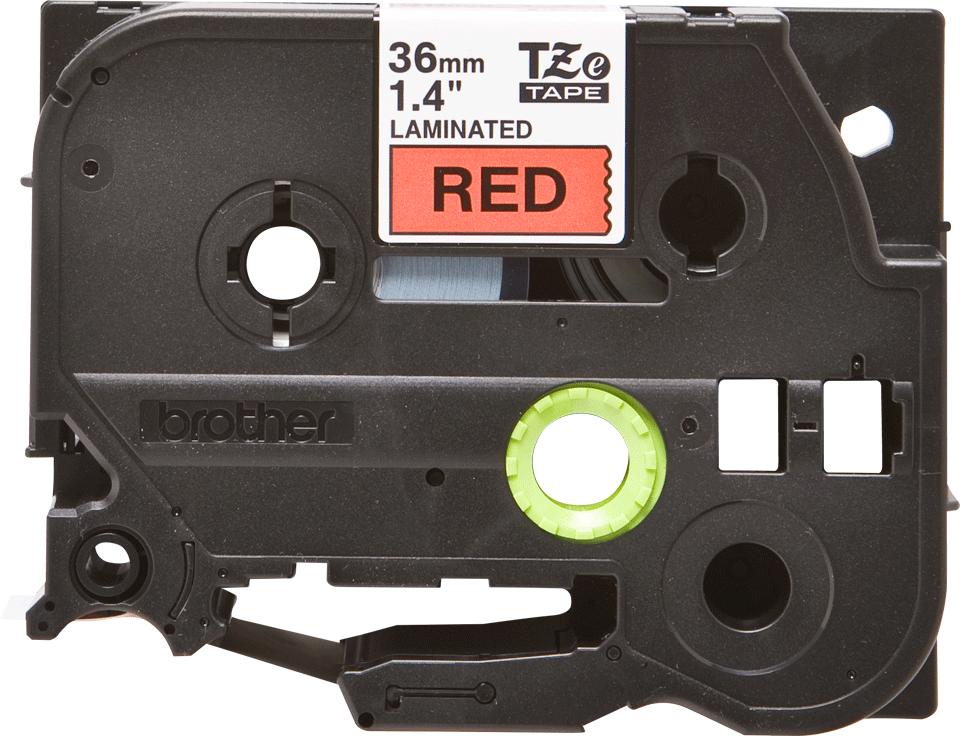 Brother TZe-461 Schriftband – schwarz auf rot 0
