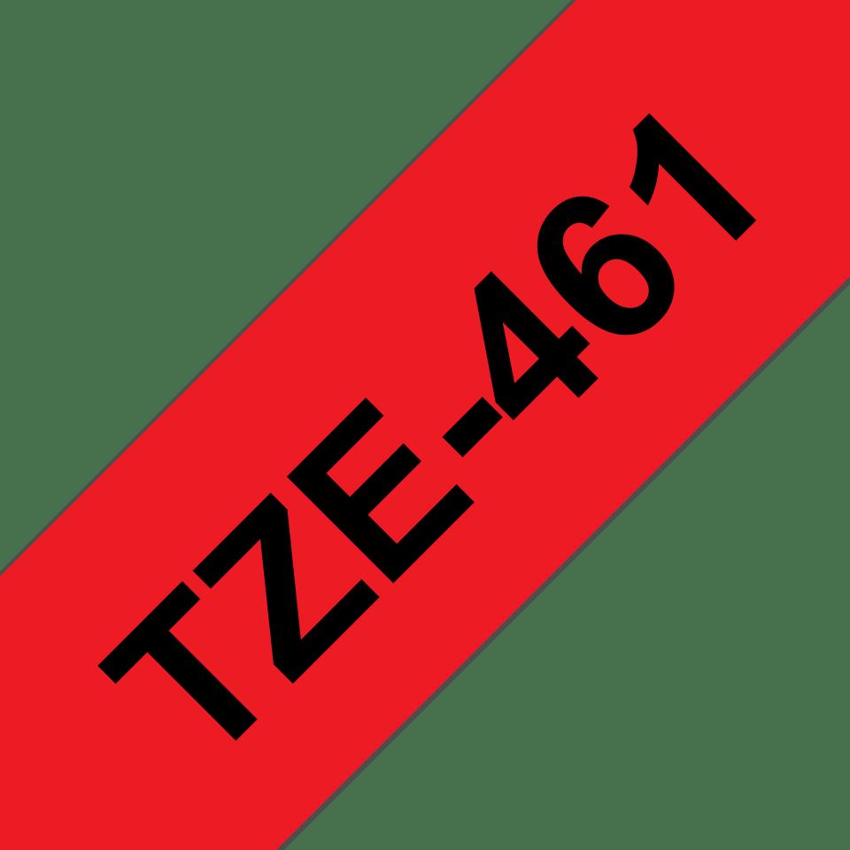 Brother TZe-461 Schriftband – schwarz auf rot 2