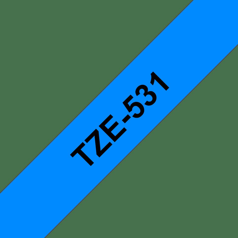 Brother TZe-531 Schriftband – schwarz auf blau 2