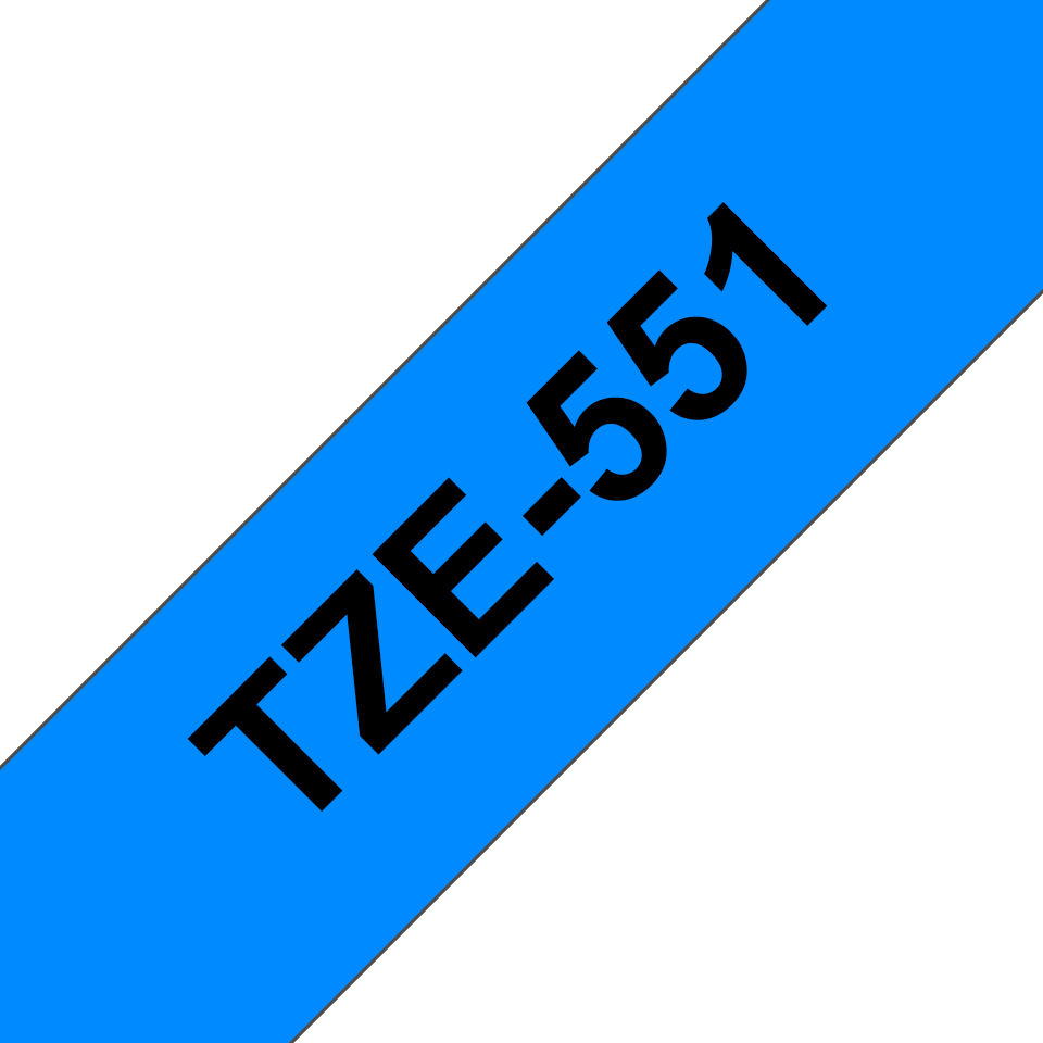 Brother TZe-551 Schriftband – schwarz auf blau 2