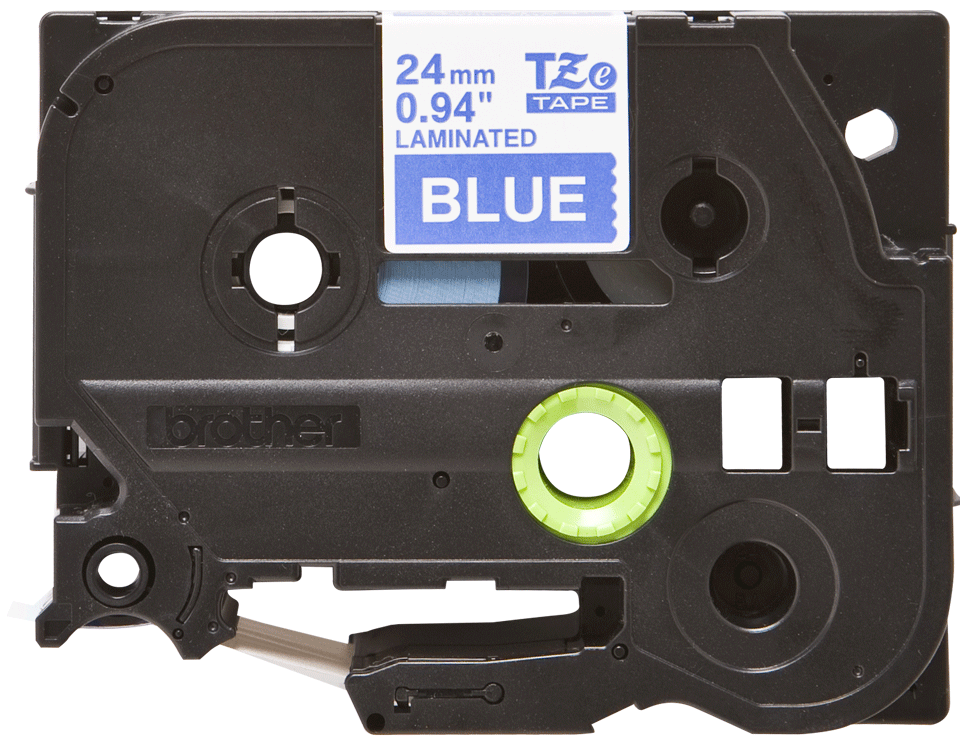 Brother TZe-555 Schriftband – weiß auf blau