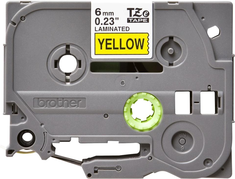 Brother TZe-611 Schriftband – schwarz auf gelb