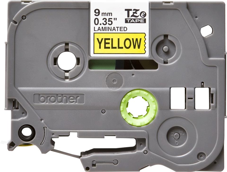 Brother TZe-621 Schriftband – schwarz auf gelb 3