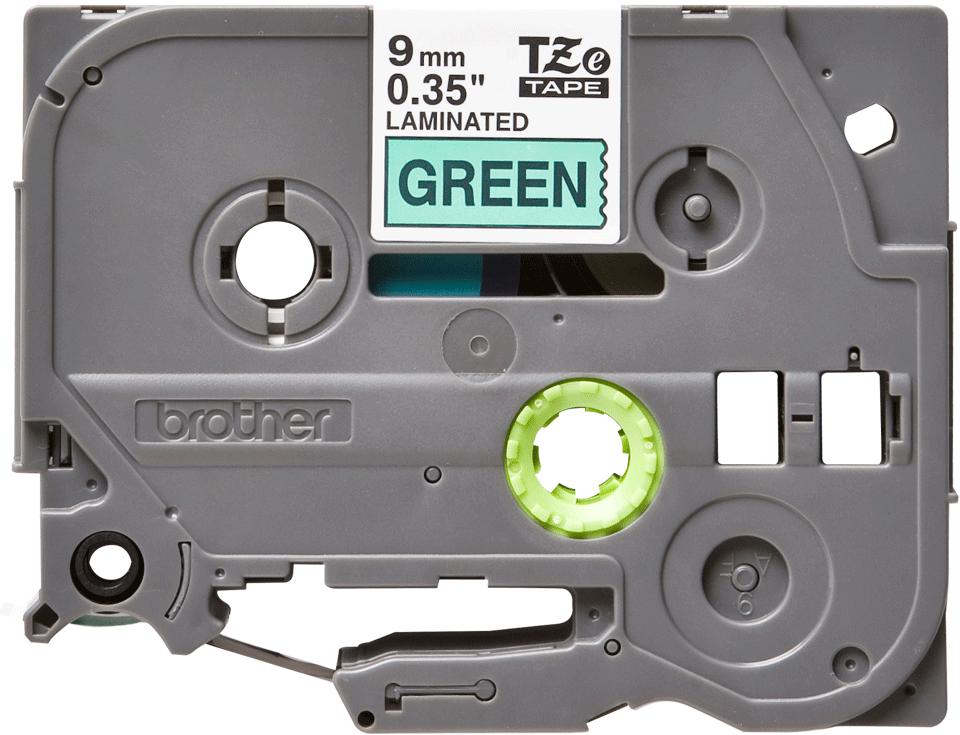Brother TZe-721 Schriftband – schwarz auf grün 3